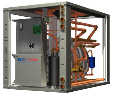 Geothermal commercial and industrial rgcv heating for Pompe a chaleur air eau