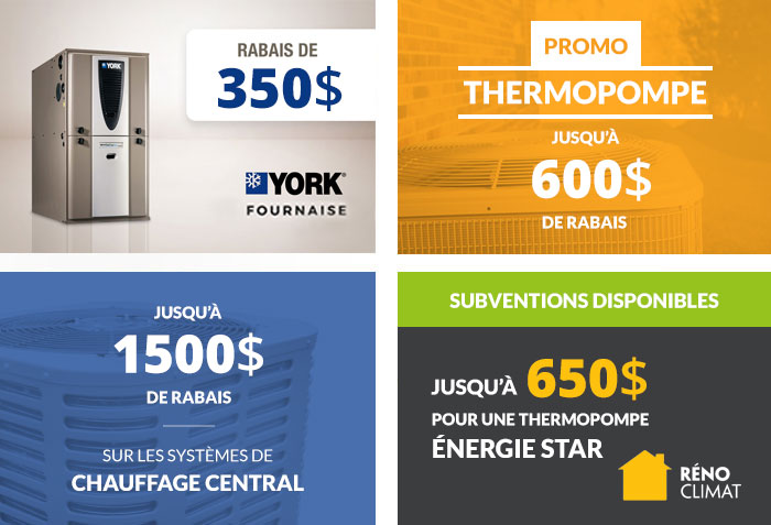 Promotion thermopompe et fournaise à Gatineau Ottawa