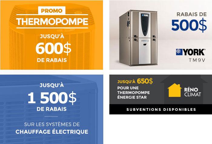 Promotion sur les thermopompes